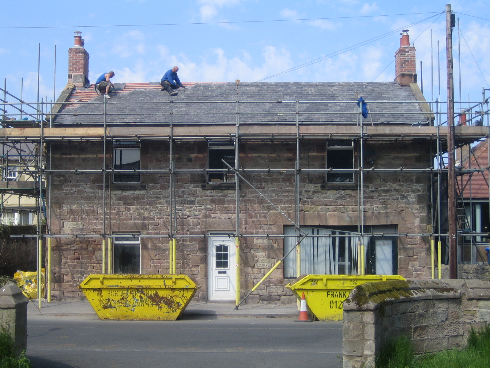 Re-roofing in Welsh slate